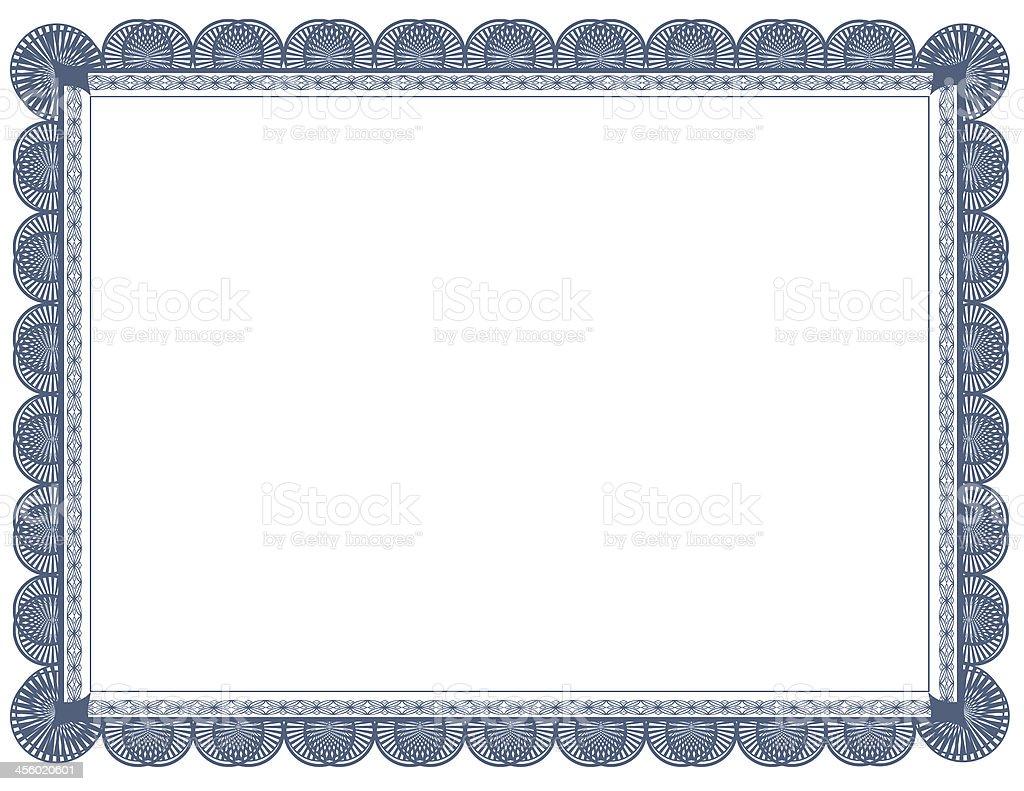 Cyanotype Document Frame 8.5 x 11 stock photo