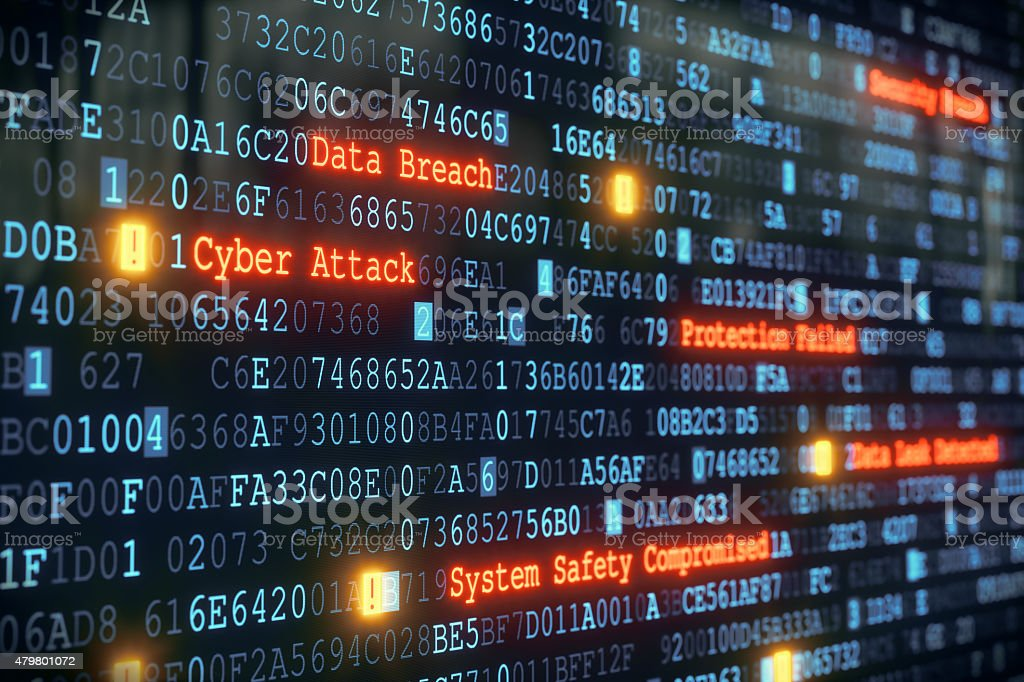 Cyber Attack A01 stock photo