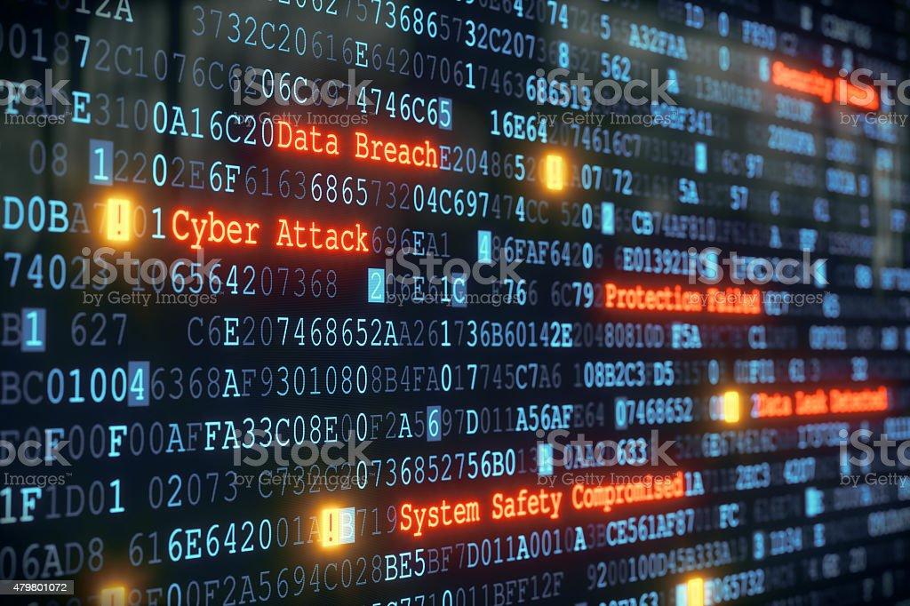 Cyber Attack A01 stock photo