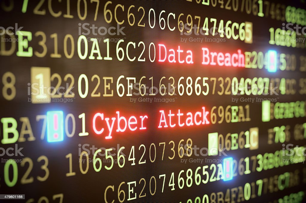 Cyber Attack A03 stock photo