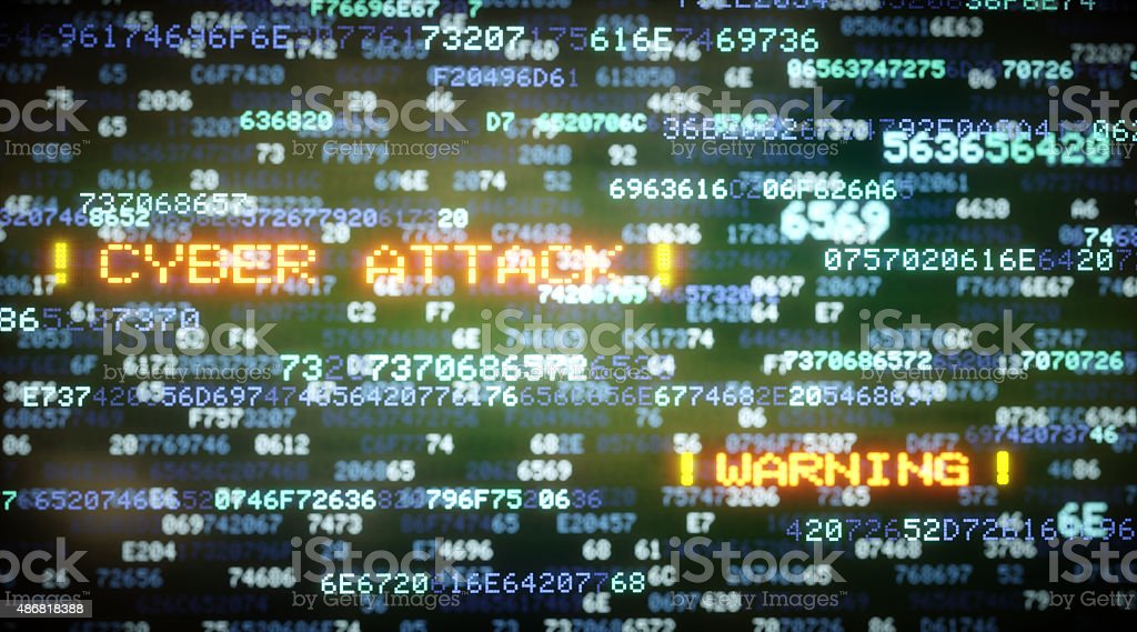 Cyber Attack A04 stock photo