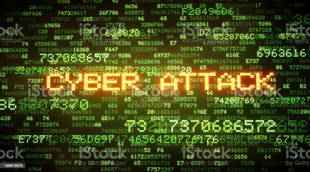 Cyber Attack A05 stock photo