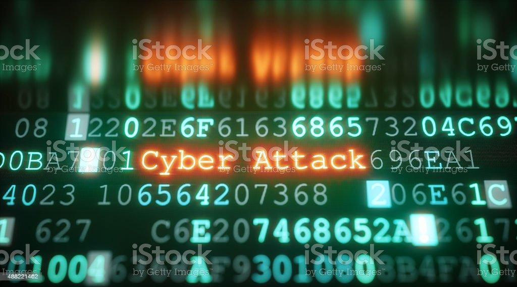 Cyber Attack A08 stock photo