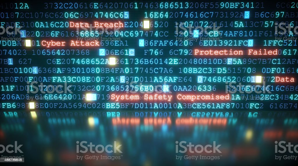 Cyber Attack A10 stock photo