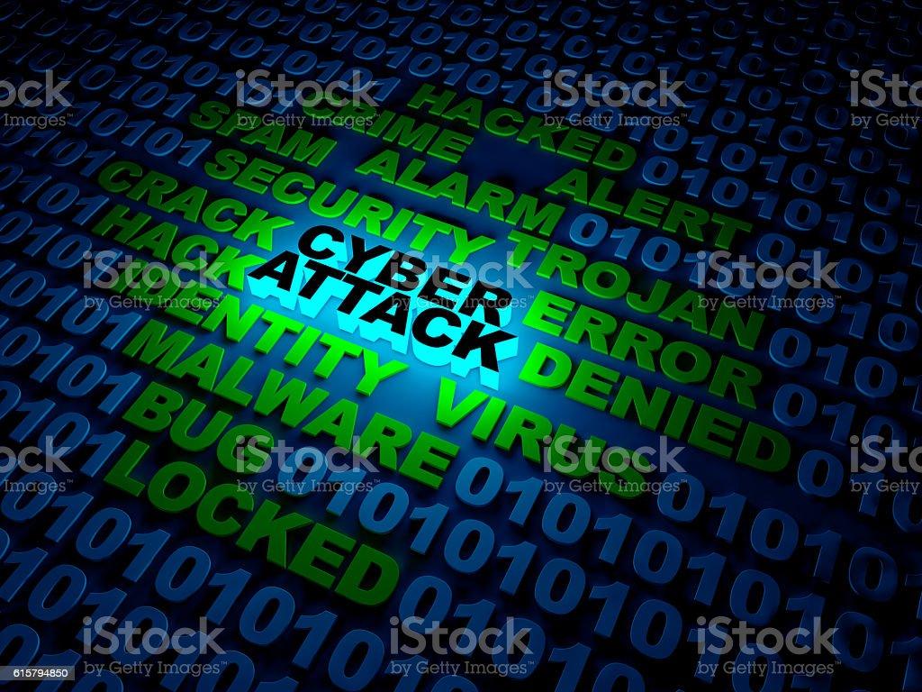Cyber Attack concept stock photo