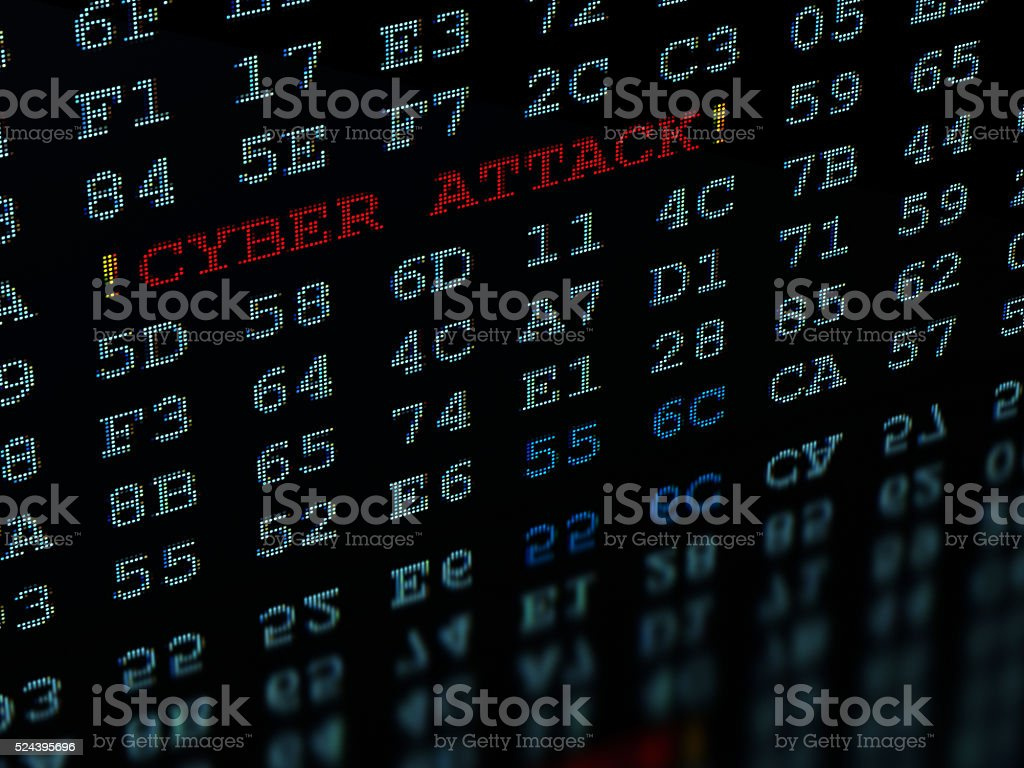 Cyber Attack Detected stock photo