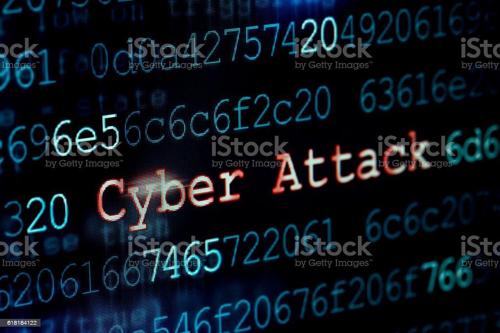 Cyber attack stock photo