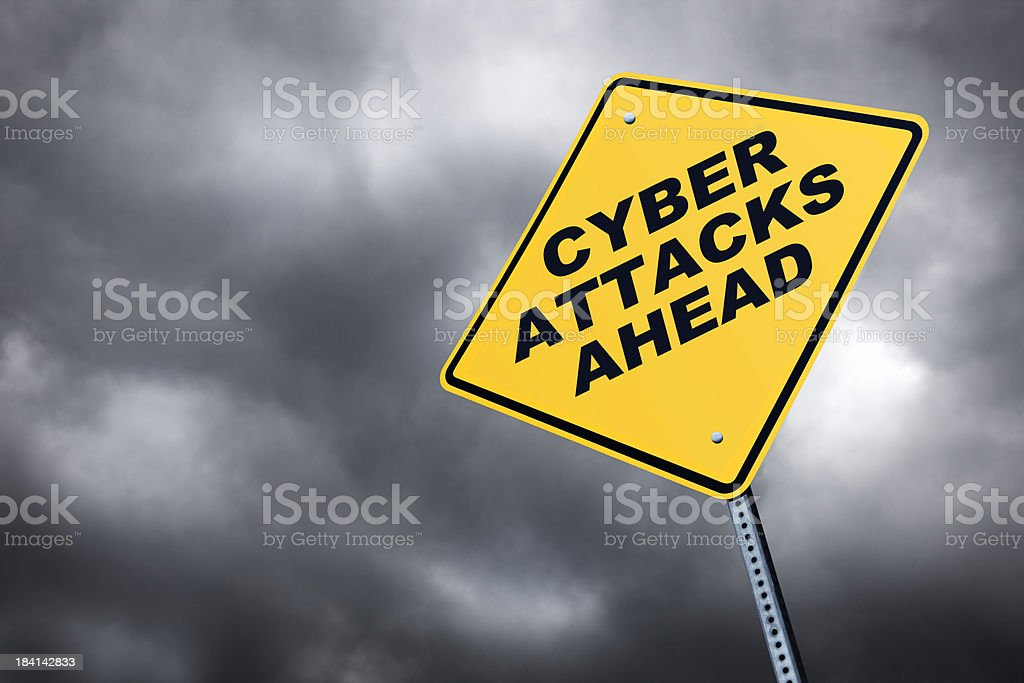 Cyber Attacks Ahead royalty-free stock photo