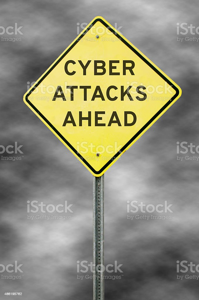 Cyber Attacks Ahead stock photo