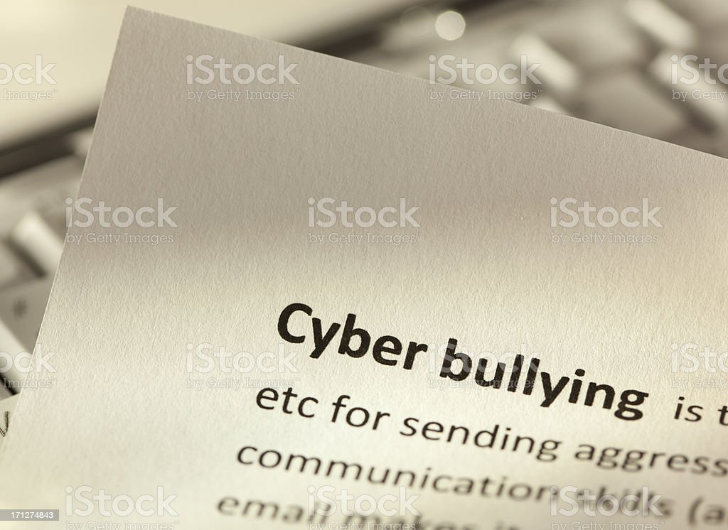Cyber bullying royalty-free stock photo