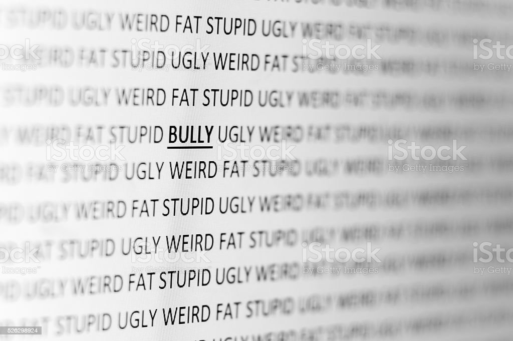 Cyber Bullying stock photo