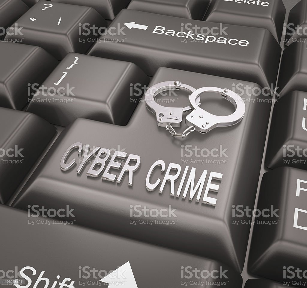 Cyber Crime , Keyboard concept royalty-free stock photo