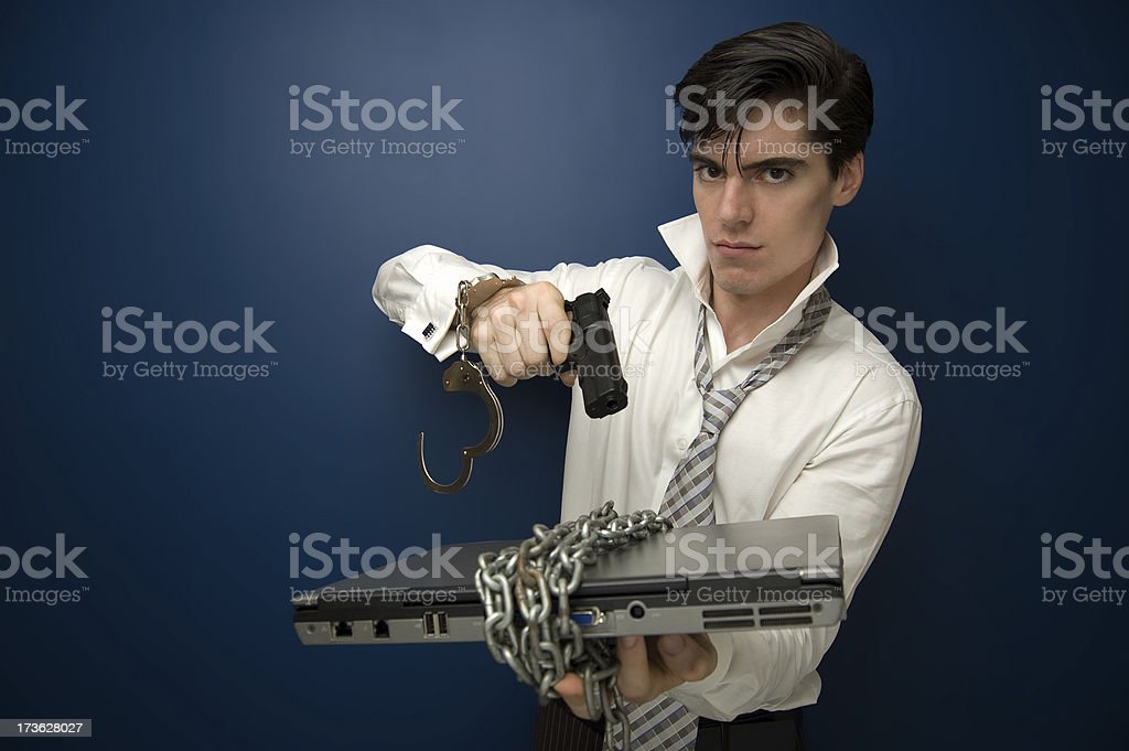 Cyber Criminal royalty-free stock photo