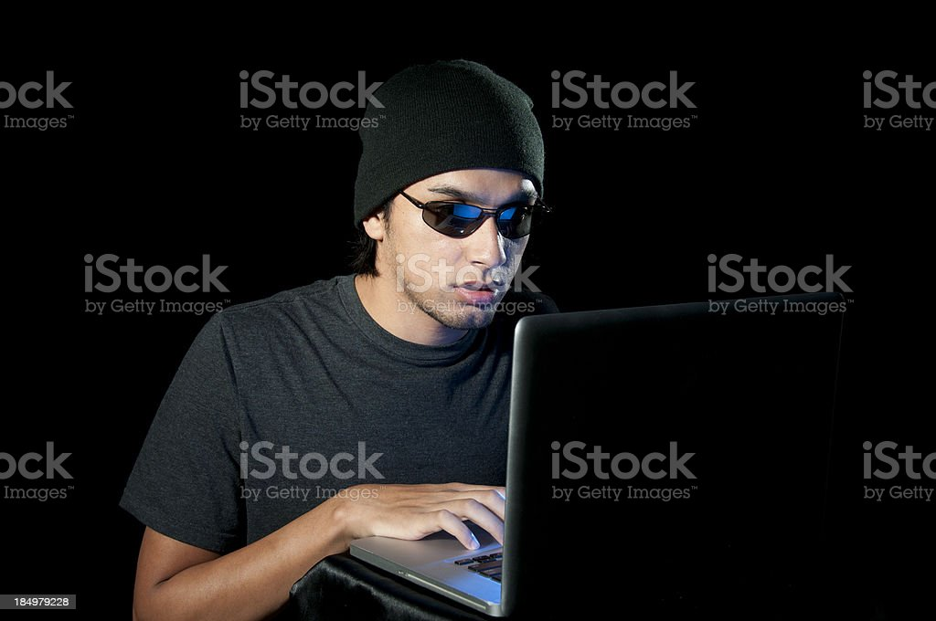 Cyber Criminal royalty-free stock photo