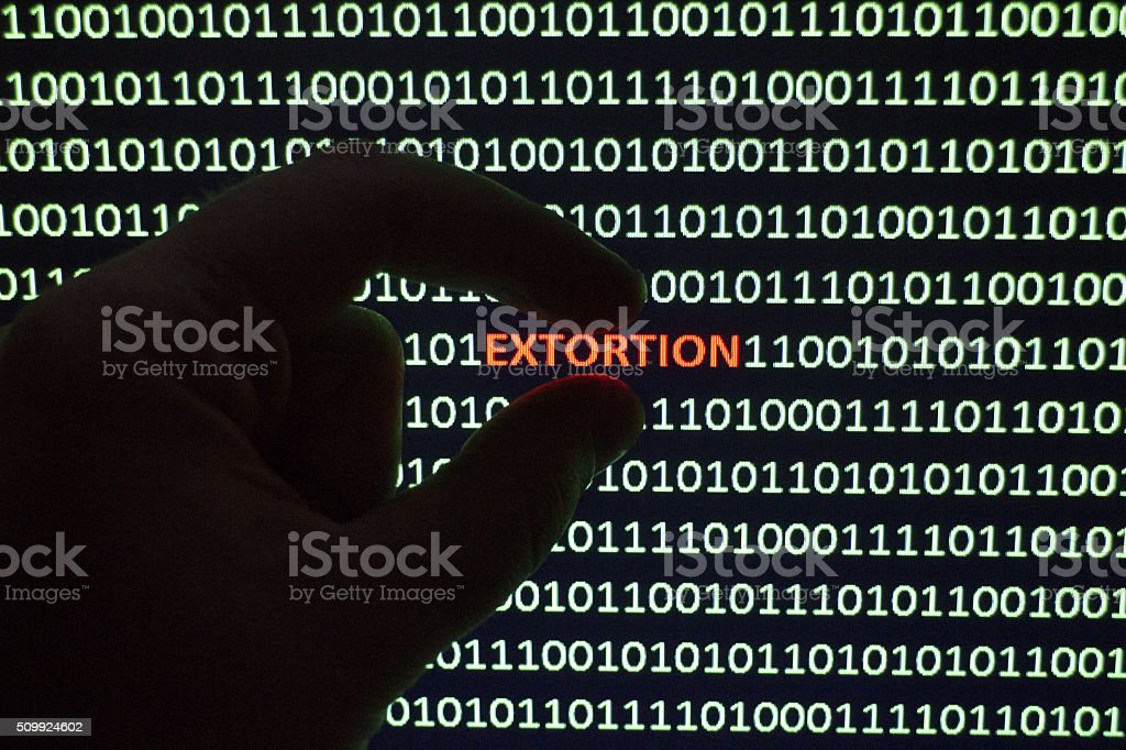 Cyber Extortion stock photo