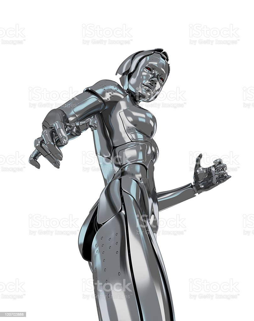Cyber girl royalty-free stock photo
