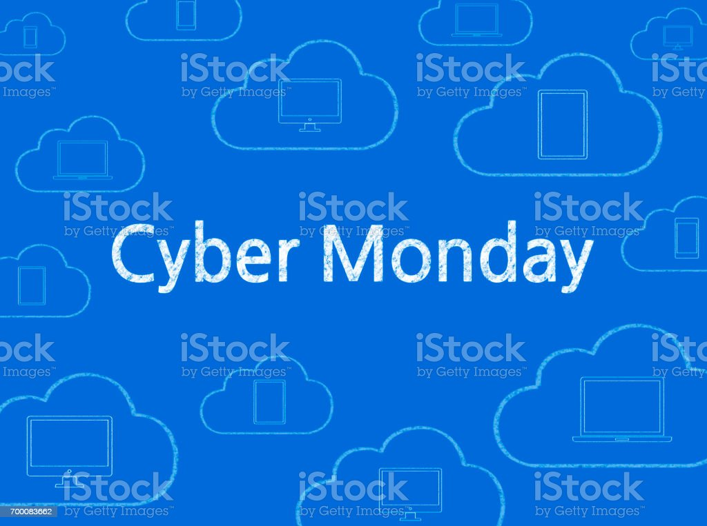 Cyber Monday - Business Chalkboard Background stock photo