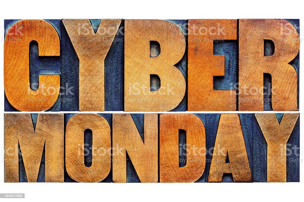 Cyber Monday - internet shopping concept stock photo