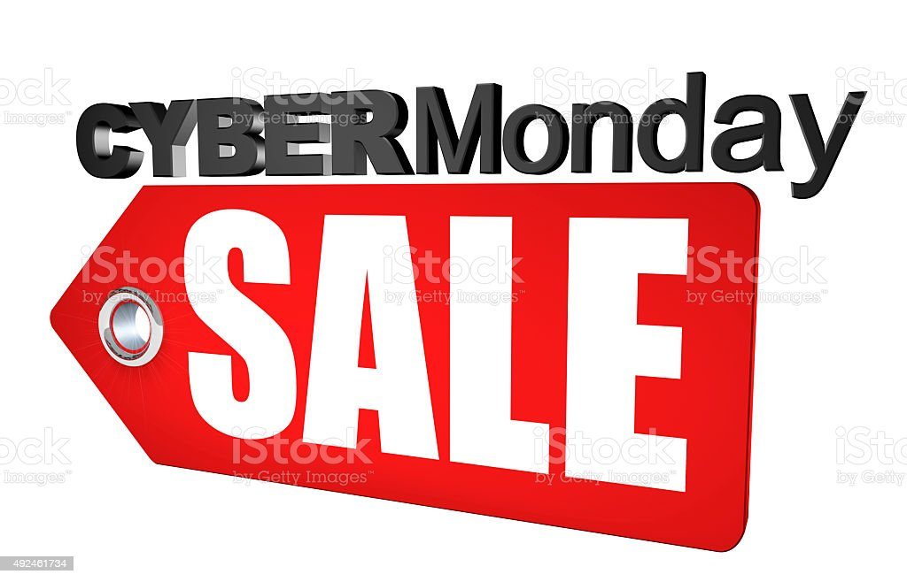 Cyber Monday Sale 3d Render stock photo