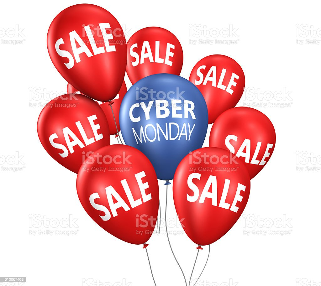 Cyber Monday Sale Balloons stock photo