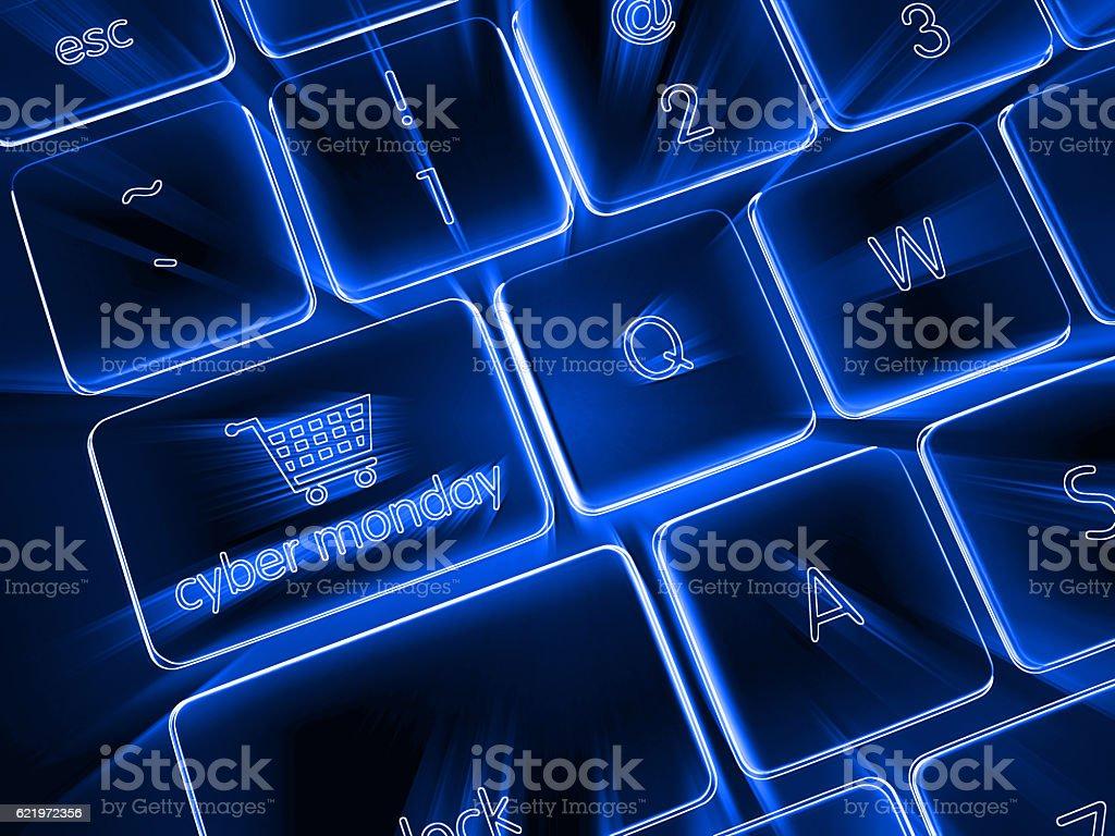 Cyber monday shopping sale stock photo