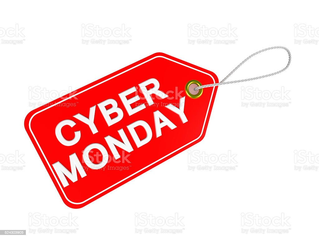 Cyber Monday tag stock photo