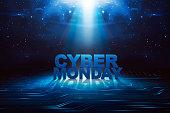 Cyber Monday written on search bar