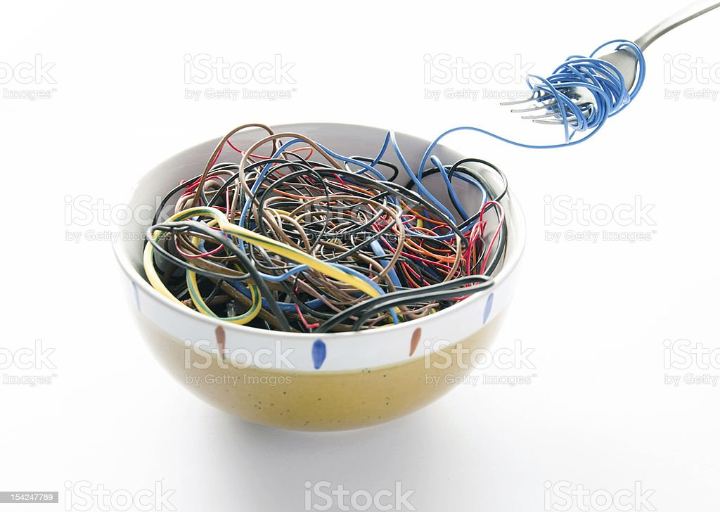 Cyber Noodles stock photo
