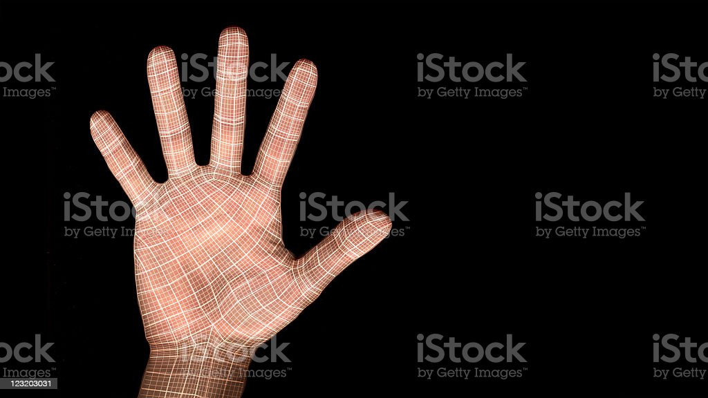 Cyber palm royalty-free stock photo