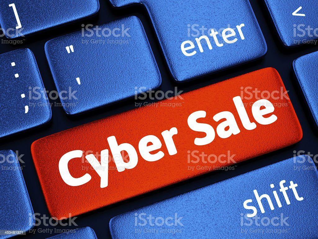 Cyber Sale stock photo