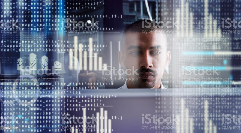 Cyber savvy stock photo