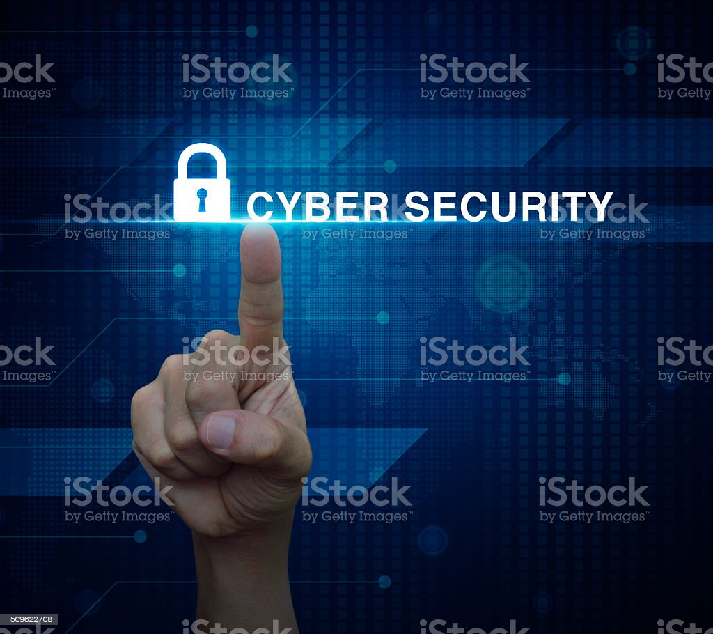 Cyber security concept, Elements of this image furnished by NASA stock photo