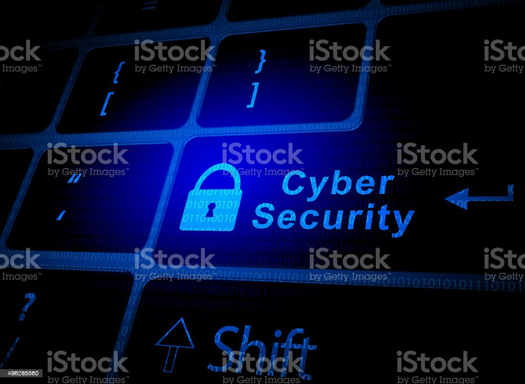 Cyber security key stock photo