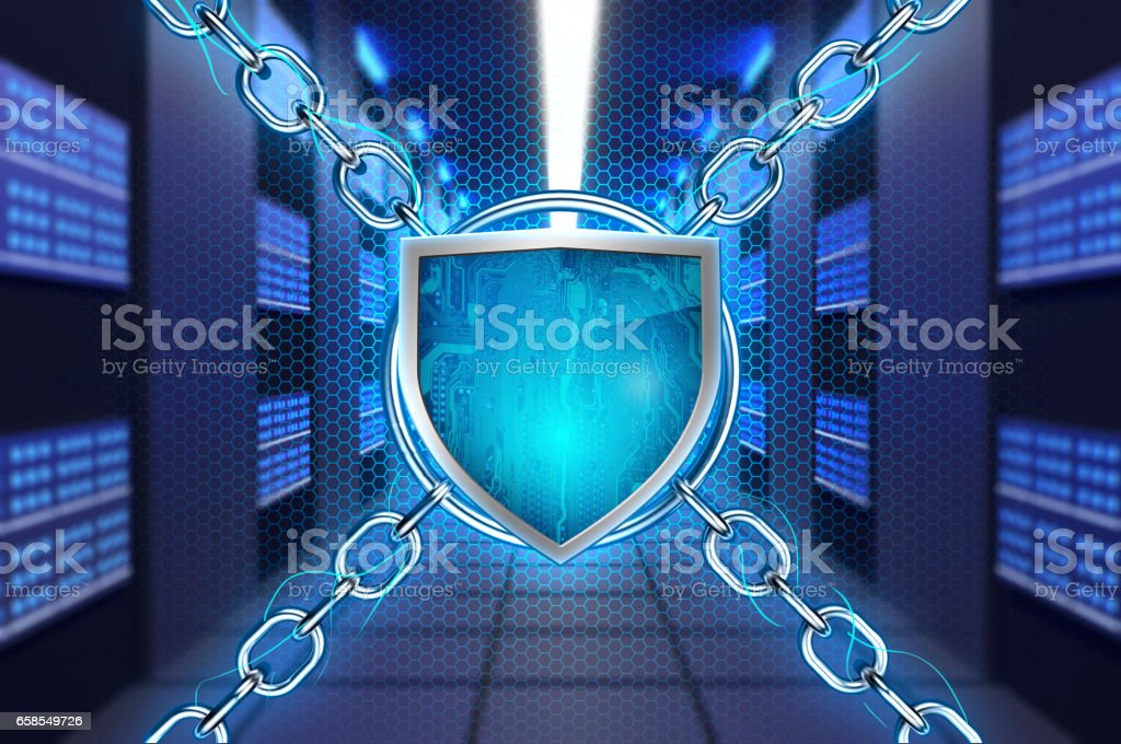 Cyber Security System stock photo