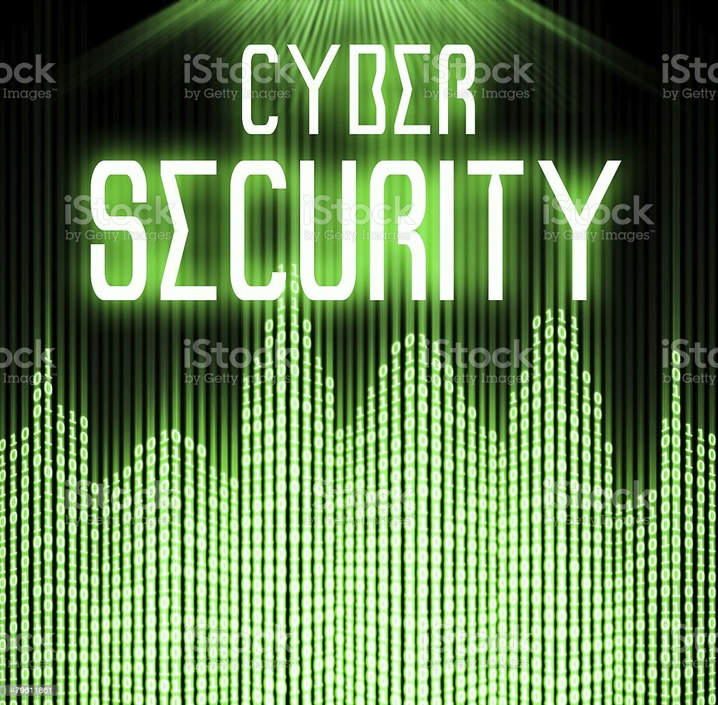 Cyber security with matrix binary code technology stock photo