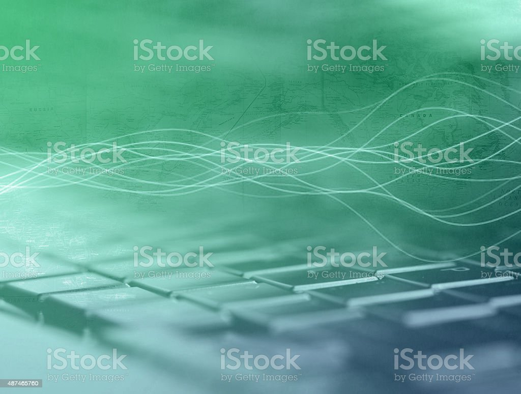 Cyber space. stock photo