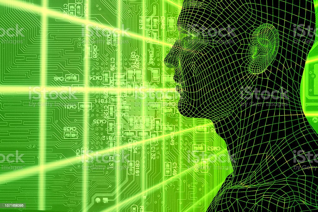Cyber Space Series royalty-free stock photo