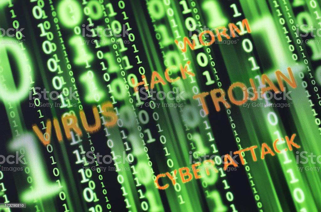 Cyber threats royalty-free stock photo