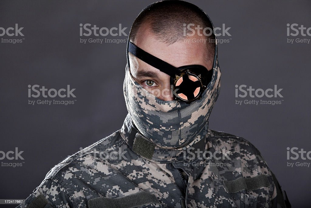 Cyber Warrior royalty-free stock photo