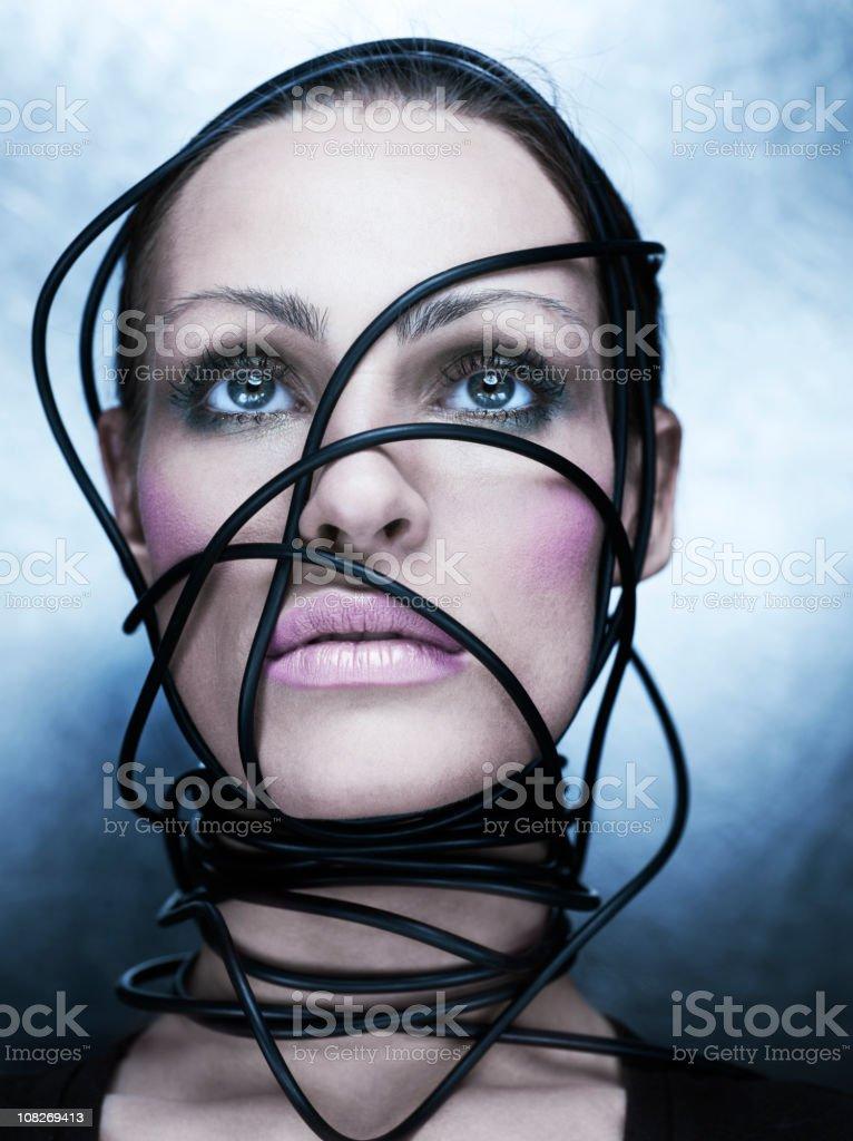 cyber woman royalty-free stock photo