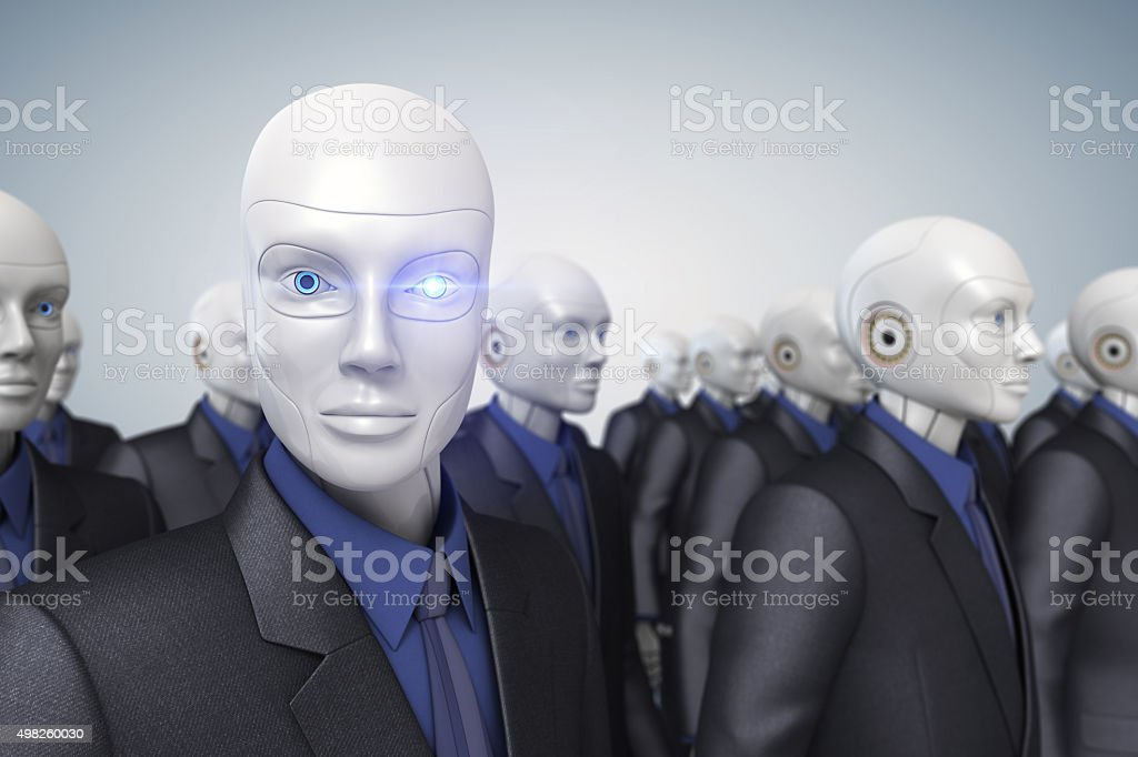 Cyber workers stock photo