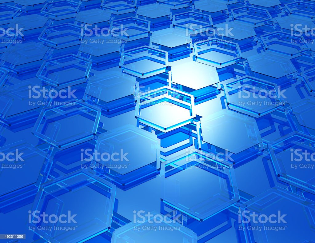 cybercells blue background stock photo