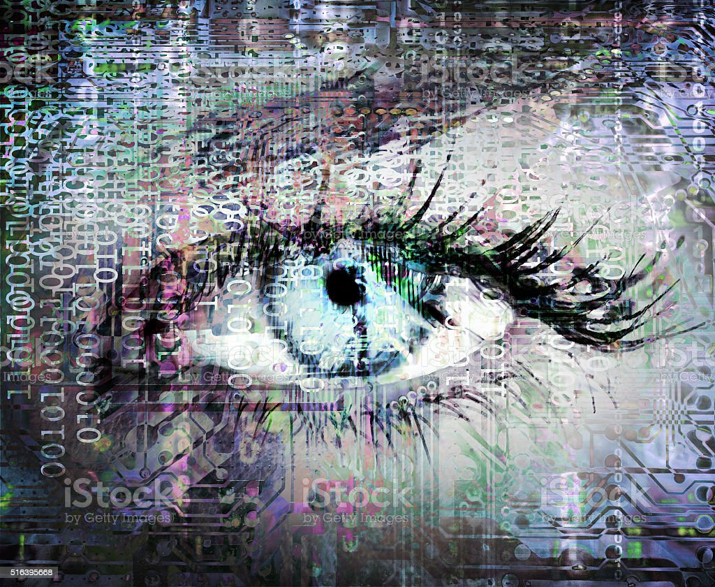 Cybernetic eye stock photo