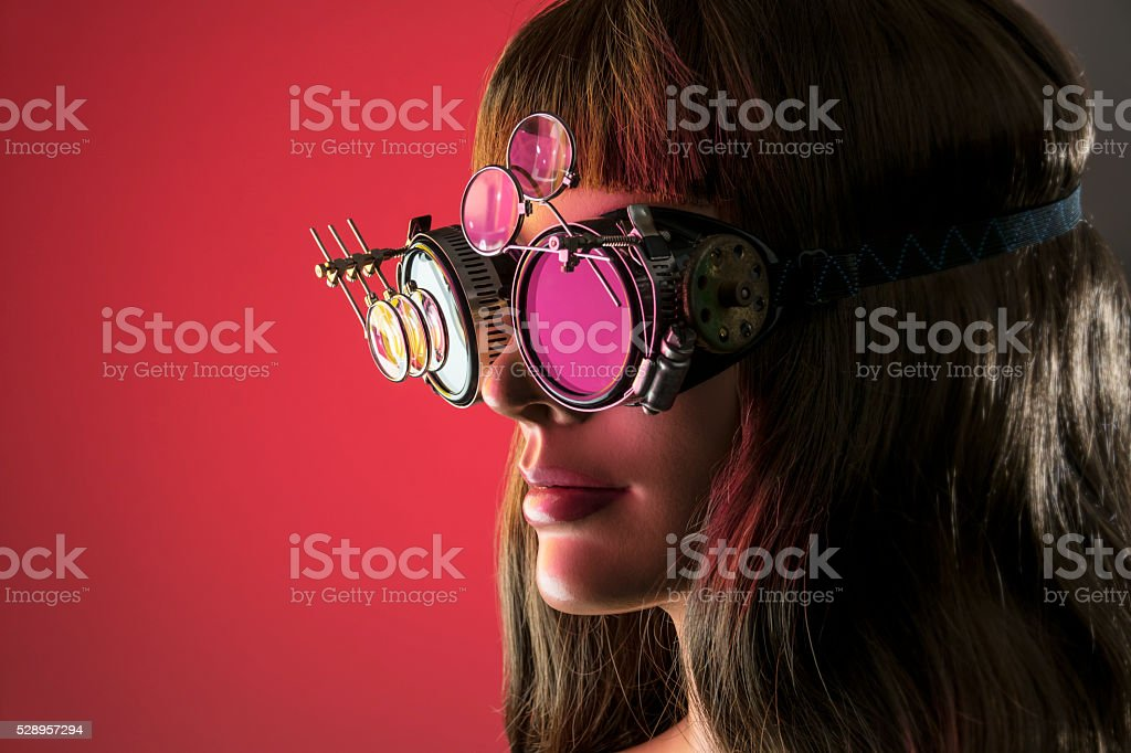 Cybernetic Vision Girl stock photo