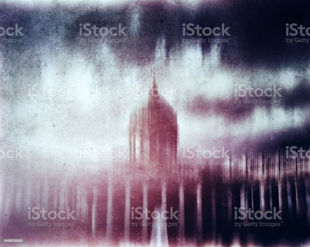 Cyberpunk capitol abstraction stock photo