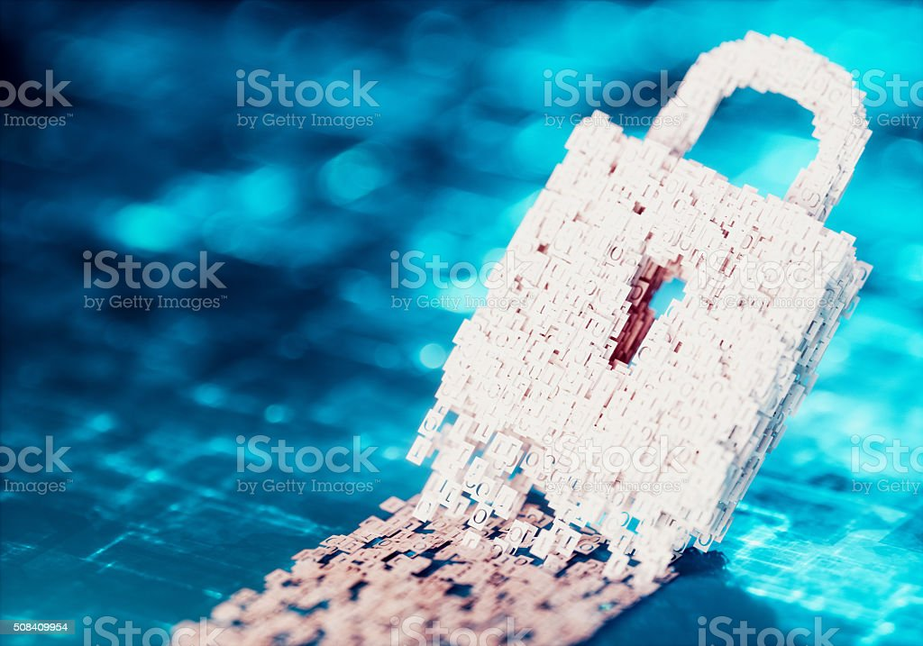 Cyberspace security concept. stock photo