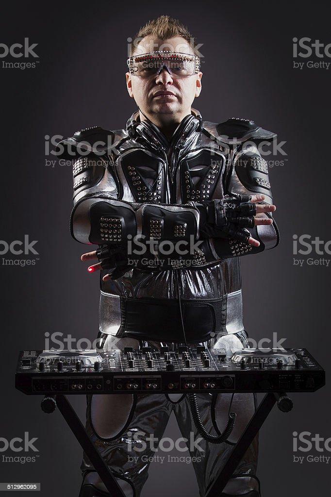 Cyborg DJ stock photo