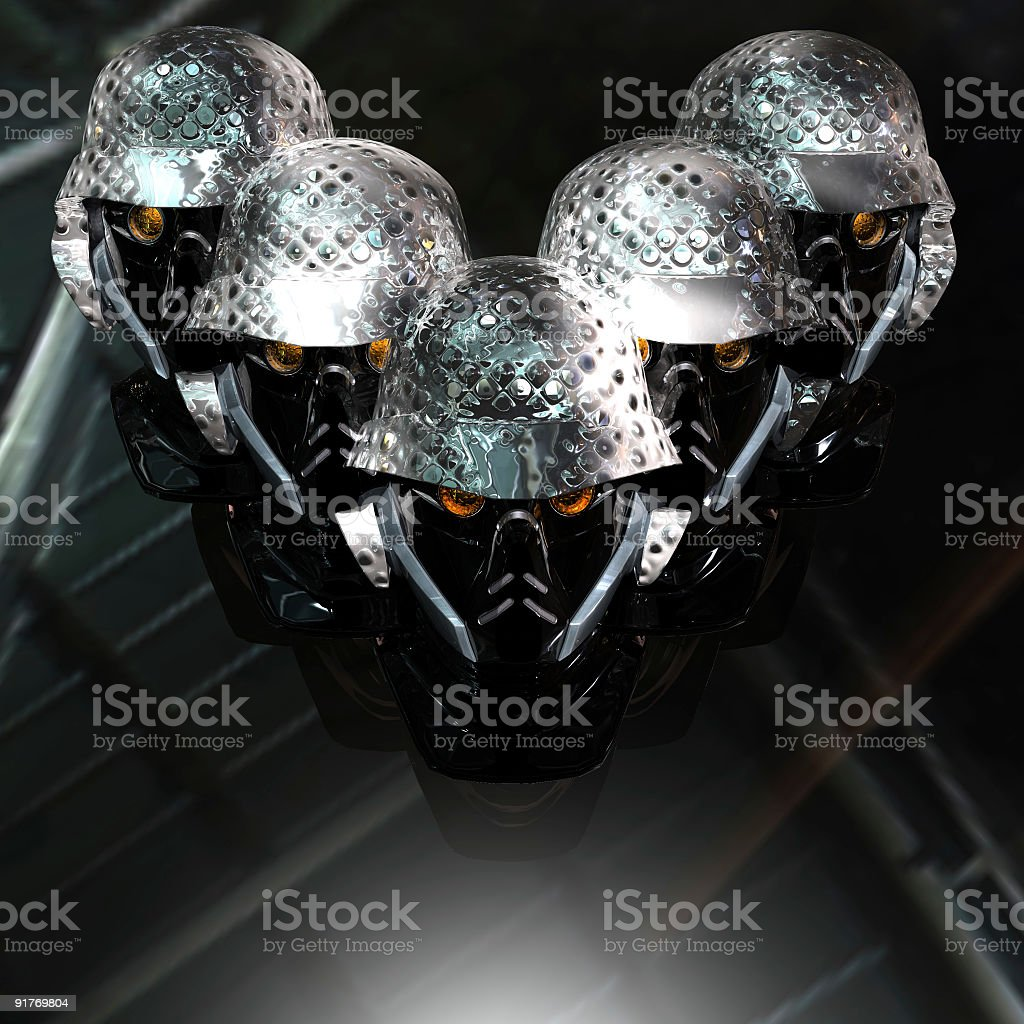 cyborg head royalty-free stock photo