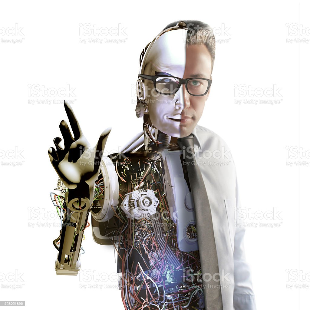 Cyborg stock photo
