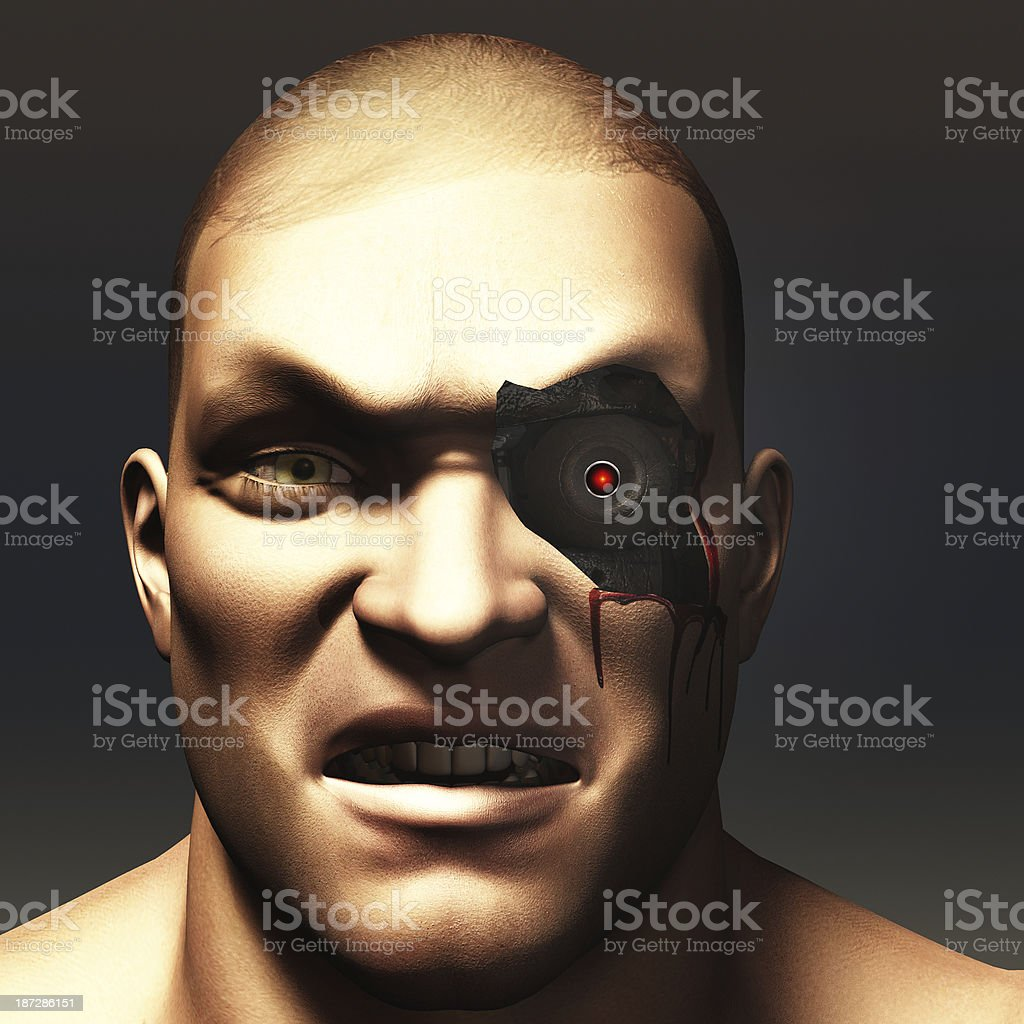 Cyborg portrait royalty-free stock photo